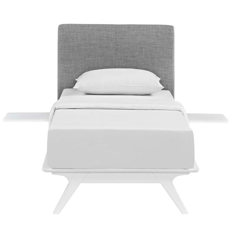 Tracy 3 Piece Twin Bedroom Set in White Gray by Modway