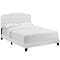 Amelia Twin Upholstered Fabric Bed in White by Modway