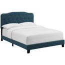 Amelia King Upholstered Fabric Bed in Azure by Modway