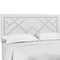 Reese Nailhead Full / Queen Upholstered Linen Fabric Headboard in White by Modway