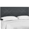 Reese Nailhead King and California King Upholstered Linen Fabric Headboard in Gray by Modway