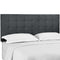 Paisley Tufted King and California King Upholstered Performance Velvet Headboard in Gray by Modway