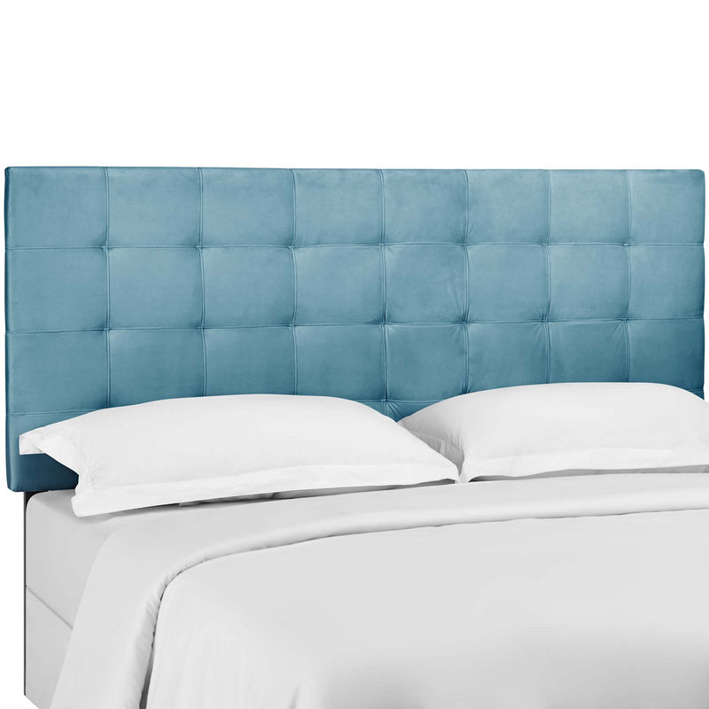 Paisley Tufted King and California King Upholstered Performance Velvet Headboard in Sea Blue by Modway