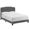 Amelia Twin Performance Velvet Bed in Gray by Modway