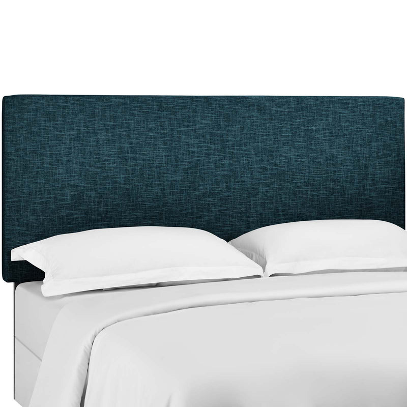 Taylor Twin Upholstered Linen Fabric Headboard in Azure by Modway