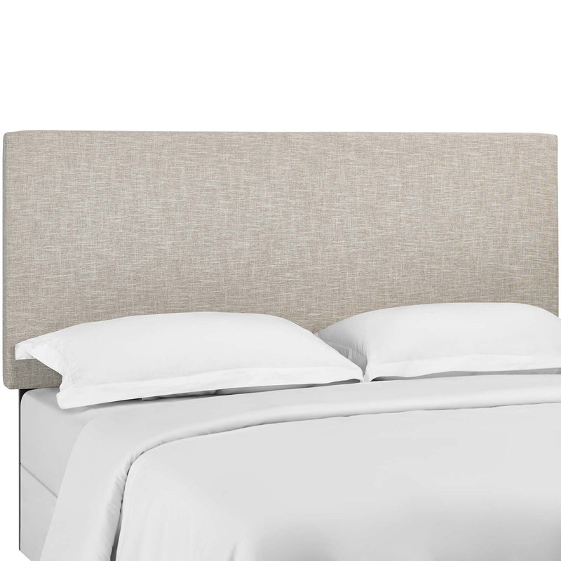 Taylor King and California King Upholstered Linen Fabric Headboard in Beige by Modway