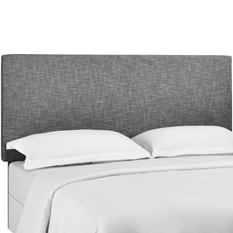 Taylor King and California King Upholstered Linen Fabric Headboard in Light Gray by Modway