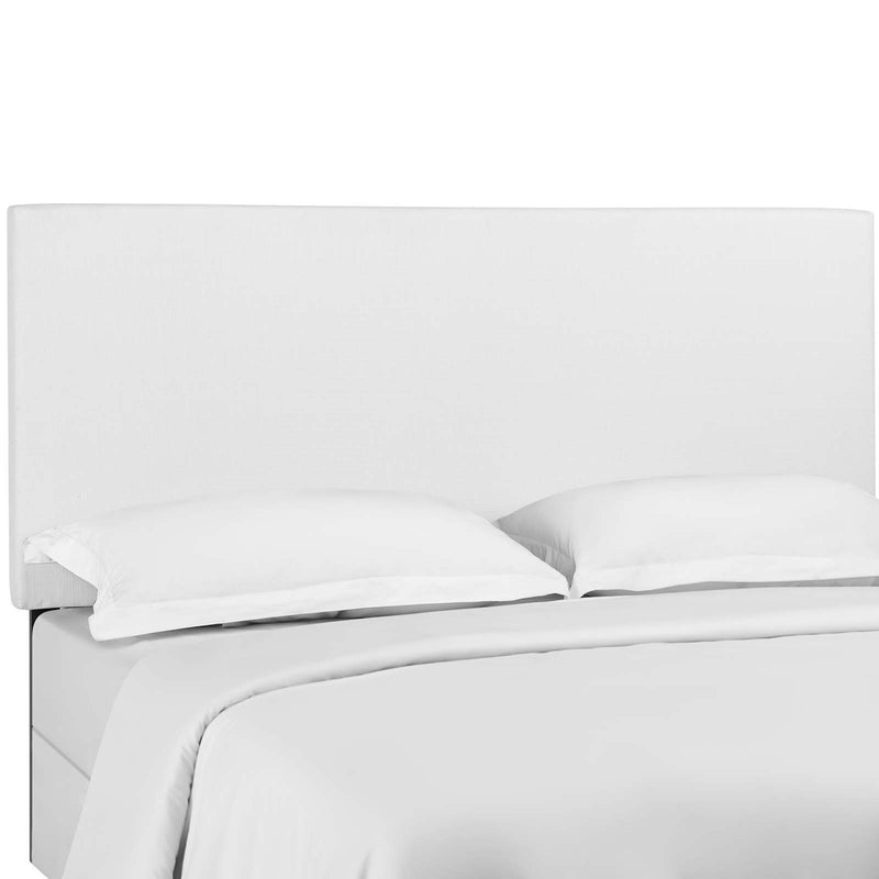 Taylor King and California King Upholstered Linen Fabric Headboard in White by Modway