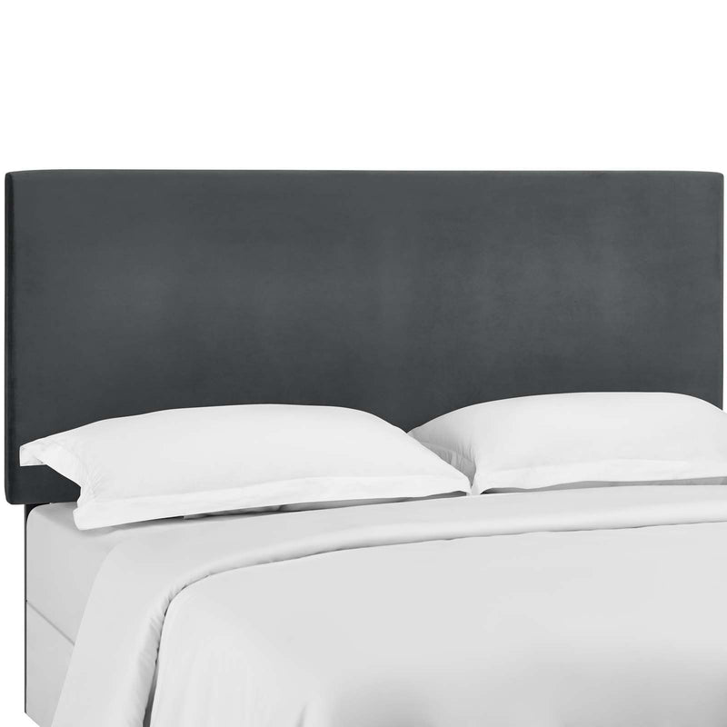 Taylor King and California King Upholstered Performance Velvet Headboard in Gray by Modway