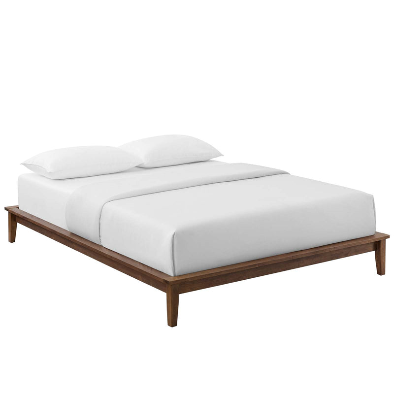 Lodge Full Wood Platform Bed Frame in Walnut by Modway