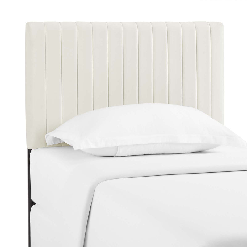 Keira Twin Performance Velvet Headboard in Ivory by Modway
