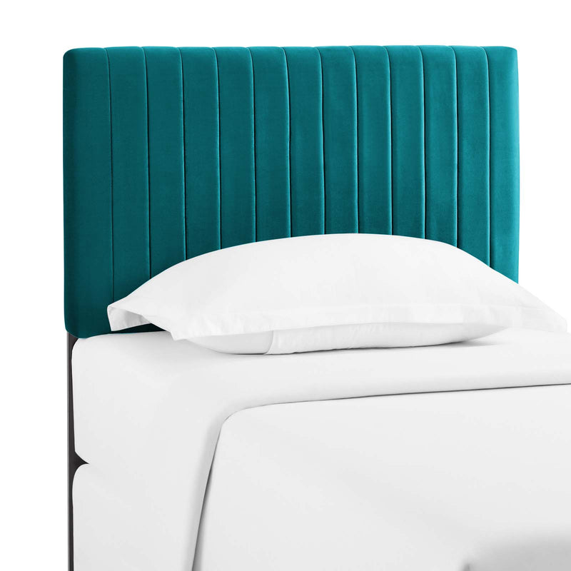 Keira Twin Performance Velvet Headboard in Teal by Modway