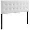 Modway Emily Queen Biscuit Tufted Performance Velvet Headboard in White