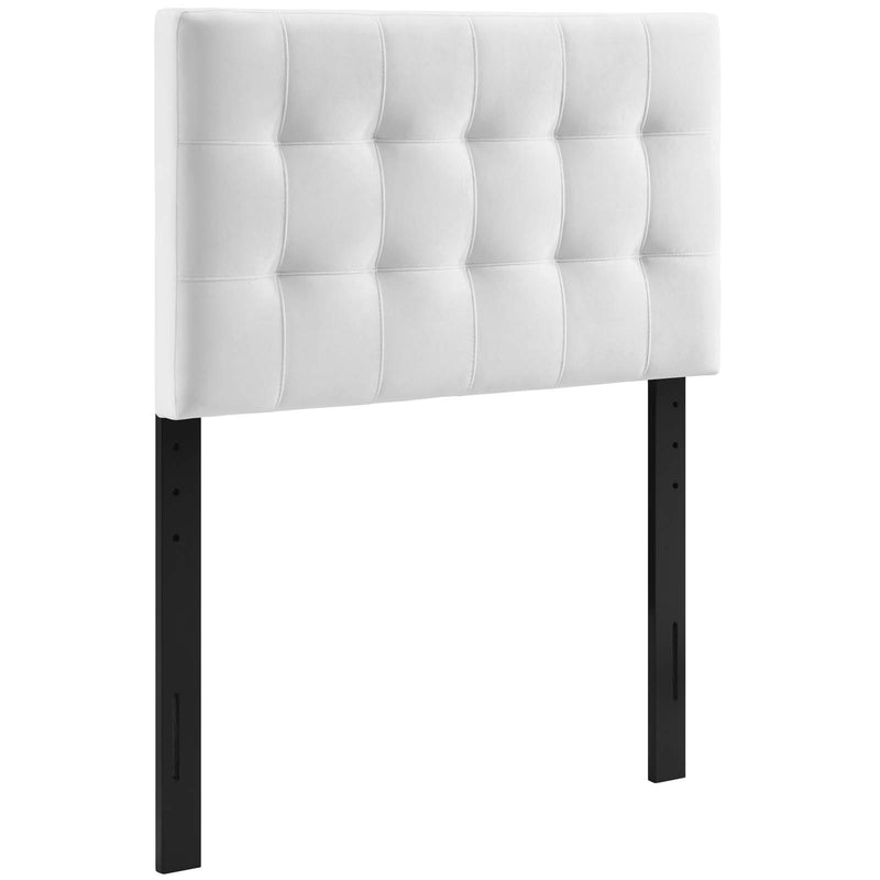 Modway Lily Biscuit Tufted Twin Performance Velvet Headboard in White
