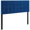 Modway Lily Biscuit Tufted Full Performance Velvet Headboard in Navy