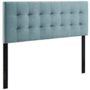 Modway Lily King Biscuit Tufted Performance Velvet Headboard in Light Blue