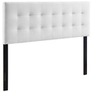 Modway Lily King Biscuit Tufted Performance Velvet Headboard in White