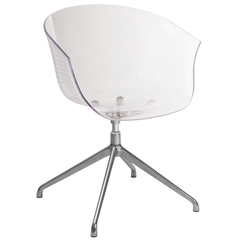 Flash Furniture OW-189L-GG Clear Acrylic Contemporary Reception Chair