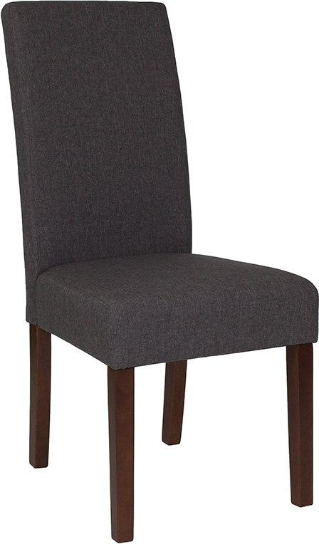 Flash Furniture QY-A37-9061-GY-GG Greenwich Series Gray Fabric Parsons Chair