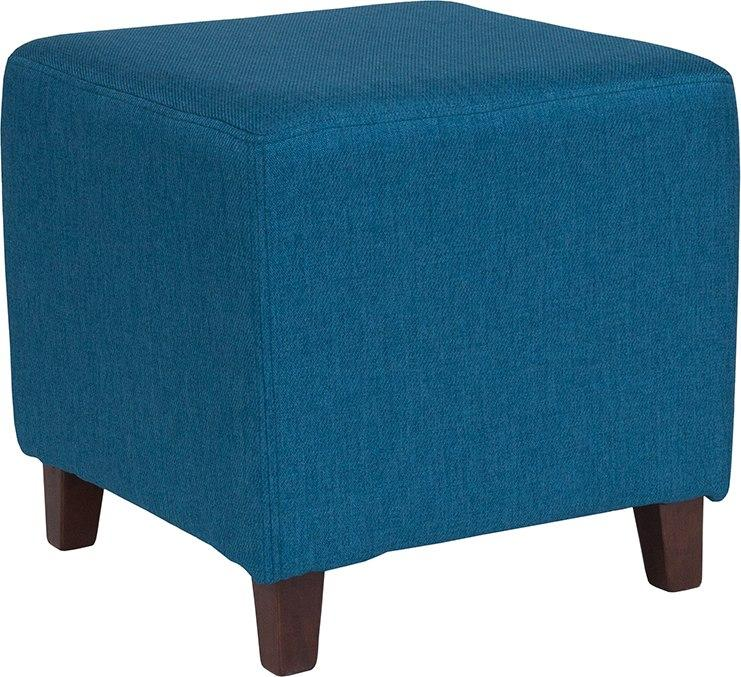 Flash Furniture QY-S09-BLU-GG Ascalon Upholstered Ottoman Pouf in Blue Fabric