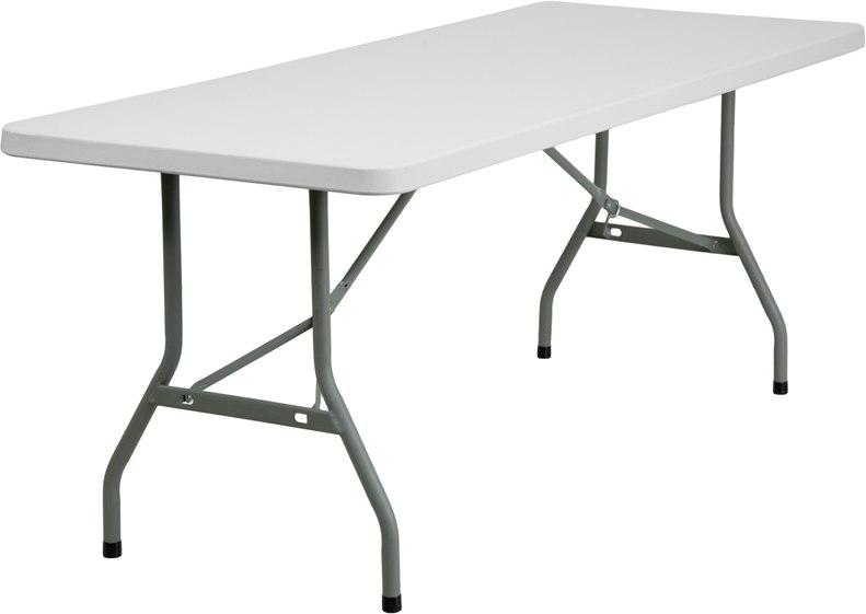 Flash Furniture RB-3072-GG 30''W x 72''L Granite White Plastic Folding Table
