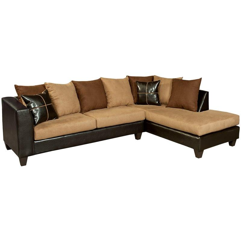 Flash Furniture RS-4184-01SEC-GG Riverstone Sierra Chocolate Microfiber Sectional with Right Side Facing Chaise
