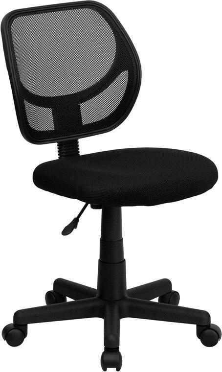 Flash Furniture WA-3074-BK-GG Mid-Back Black Mesh Swivel Task Chair