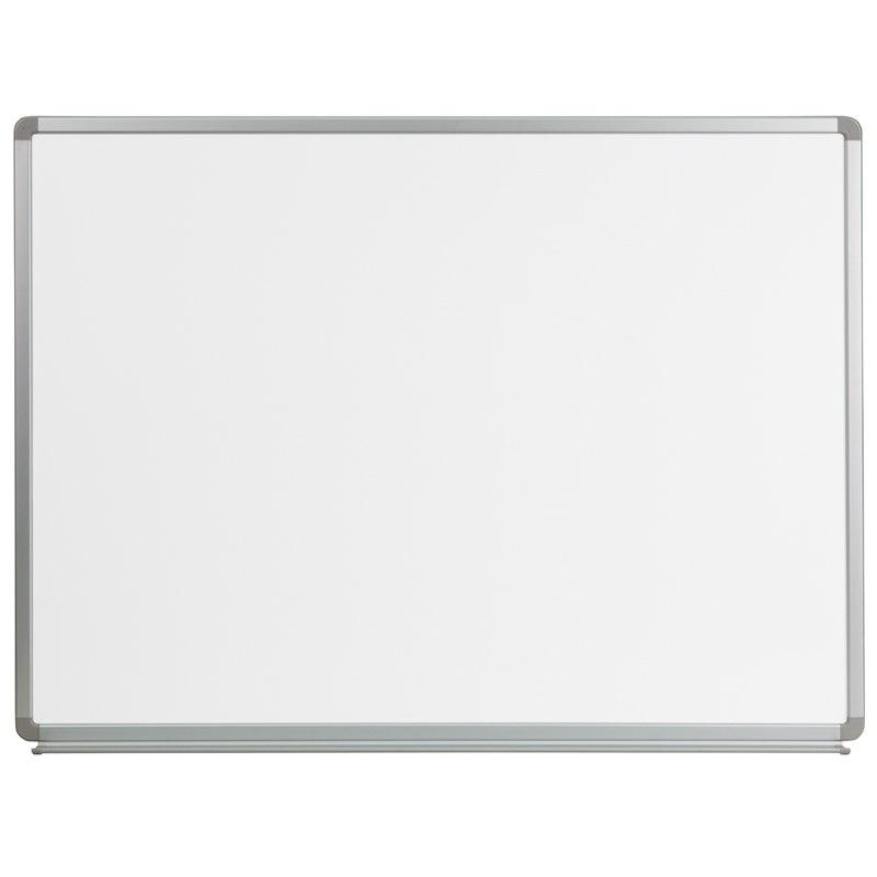 Flash Furniture YU-90X120-WHITE-GG 4' W x 3' H Magnetic Marker Board