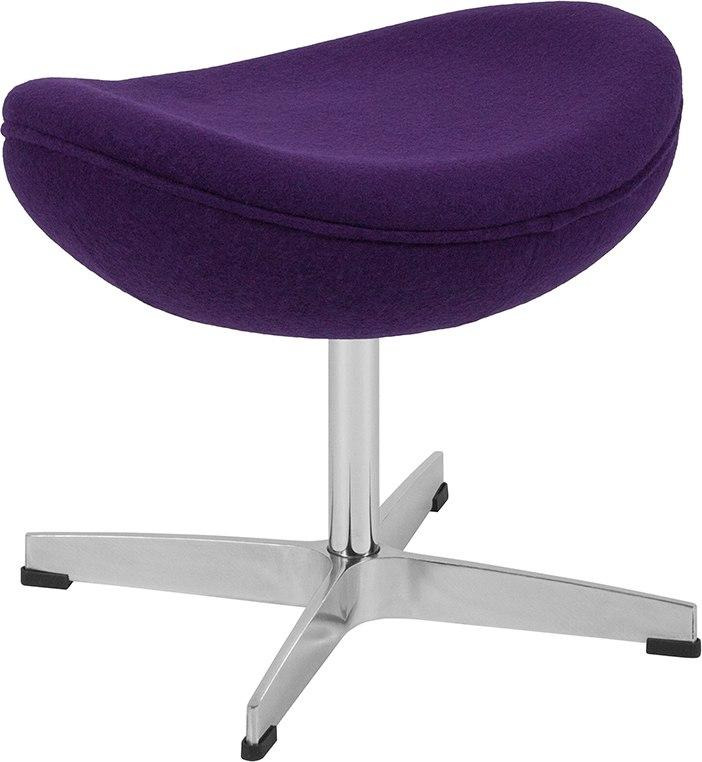 Flash Furniture ZB-16-OT-GG Purple Wool Fabric Ottoman