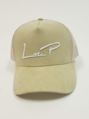 Load image into Gallery viewer, Liquor n Poker - Miller suede trucker baseball cap in sand
