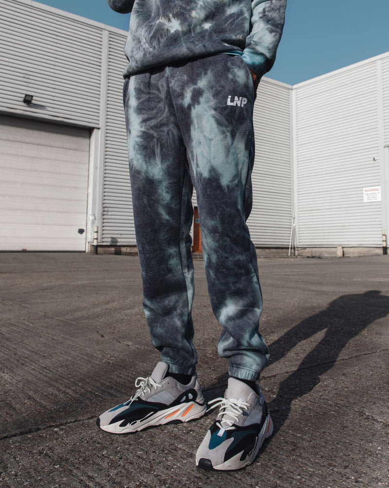 Candy relaxed joggers in blue tie dye