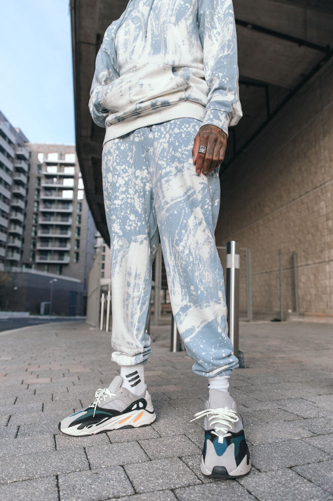Alaska relaxed fit joggers in tie dye bleach wash