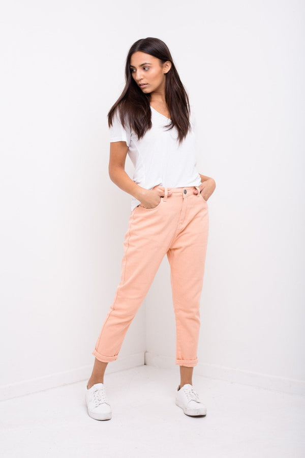 High Espirit Blush Pink Mom Jeans - Liquor N Poker  Liquor N Poker