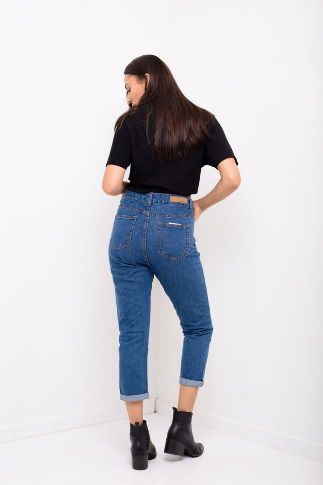 High Espirit Mom jeans In Vintage Indigo - Liquor N Poker  LIQUOR N POKER