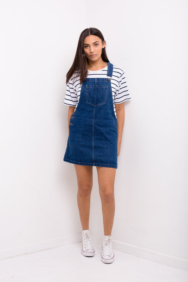 Maybe Baby Embroidered Denim Pinafore Dress - Liquor N Poker  Liquor N Poker