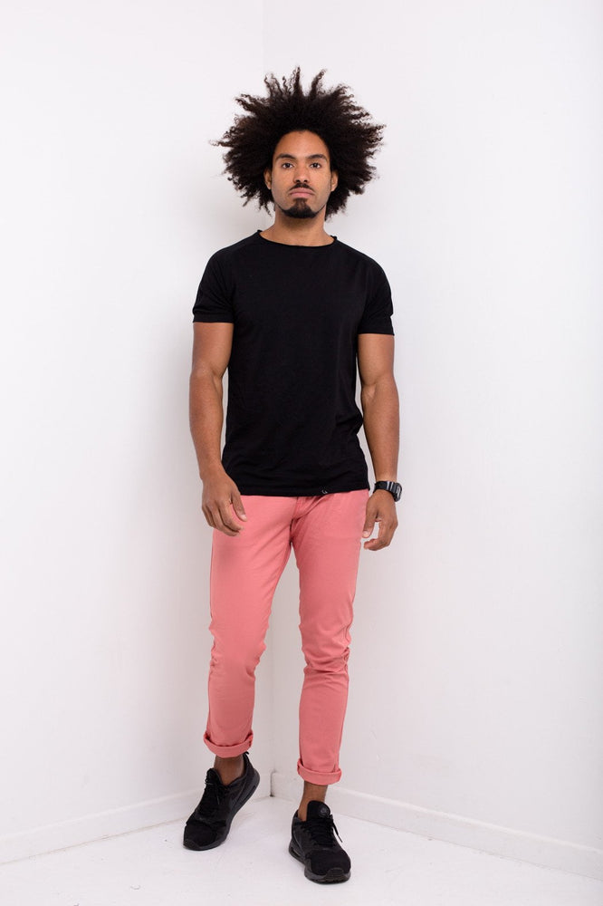 Faro Slim Fit Stretch Chino In Dusty Pink