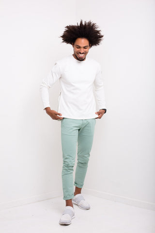 Liquor n Poker - Faro Slim fit stretch chino in mint green - Liquor N Poker  Liquor N Poker
