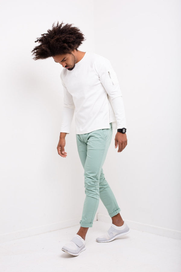Faro Slim Fit Stretch Chino In Mint Green - Liquor N Poker  Liquor N Poker