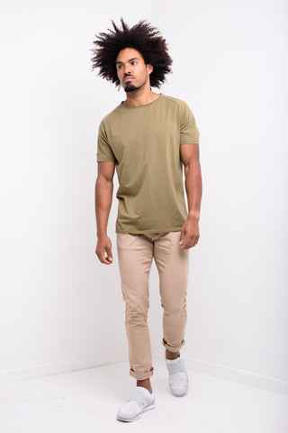 Liquor n Poker - Faro Slim fit stretch chino in sand - Liquor N Poker  Liquor N Poker