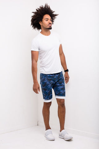 Liquor n Poker - Williamsburg Navy Camo Shorts - Liquor N Poker  Liquor N Poker