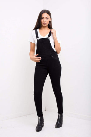 Lizzie Clean Black Skinny Denim Dungaree Without Rips - Liquor N Poker  LIQUOR N POKER