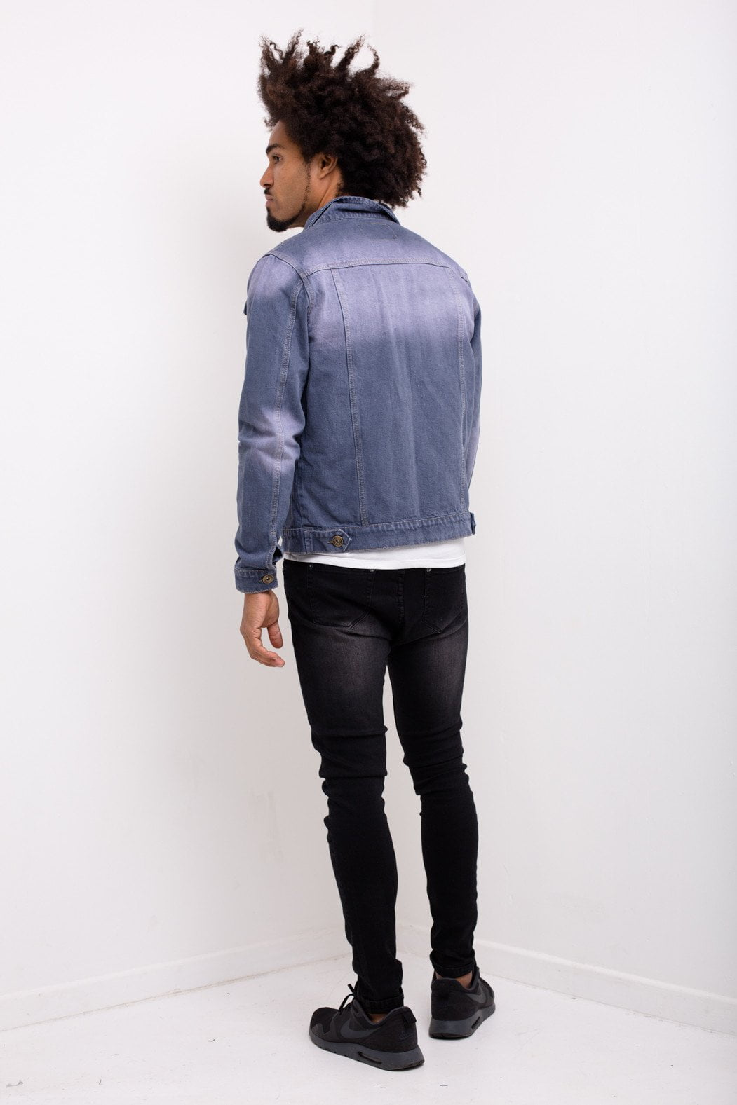 Liquor n Poker - Norton Grey washed denim jacket in slim fit - Liquor N Poker  Liquor N Poker