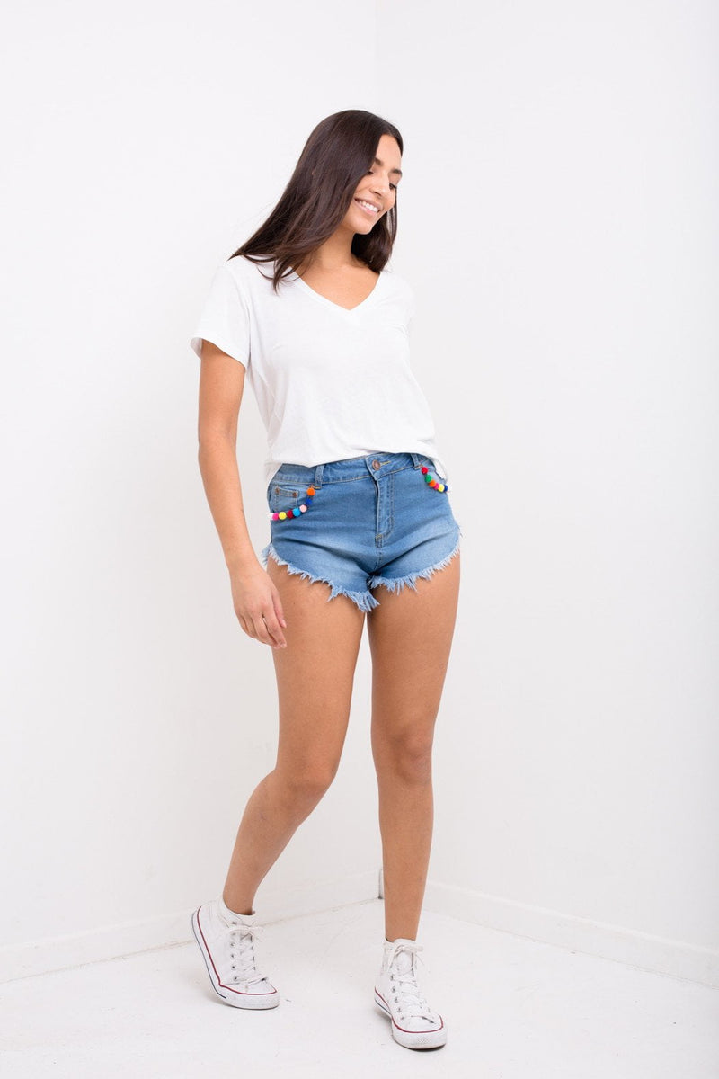 Knicker Shorts With Pom Pom Trim - Liquor N Poker  Liquor N Poker