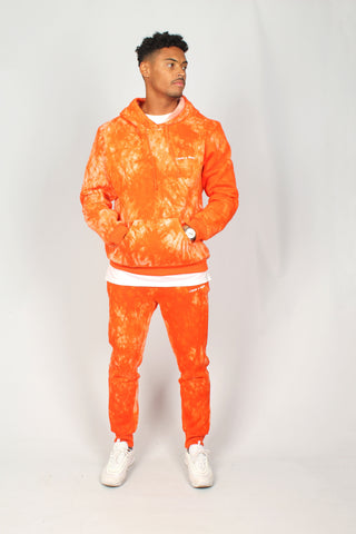Baller Tye Dye Tracksuit Set In Orange