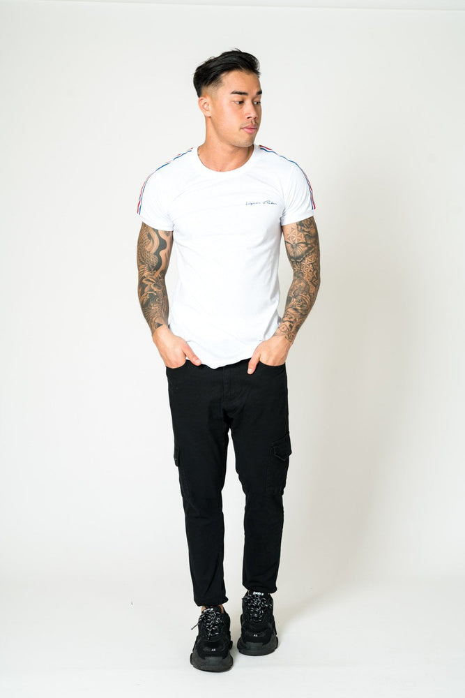 FARO SLIM FIT CARGO TROUSER IN BLACK - Liquor N Poker  LIQUOR N POKER