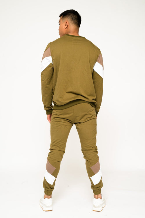 BAKERFIELD BLOCK WORK JOGGER IN SLIM FIT NEON KHAKI - Liquor N Poker  Liquor N Poker
