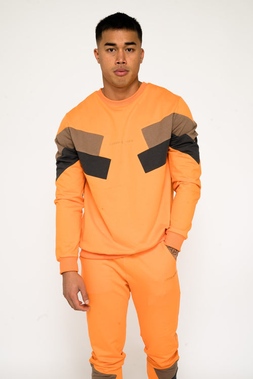 Bakerfield blockwork jumper in Orange - Liquor N Poker  Liquor N Poker