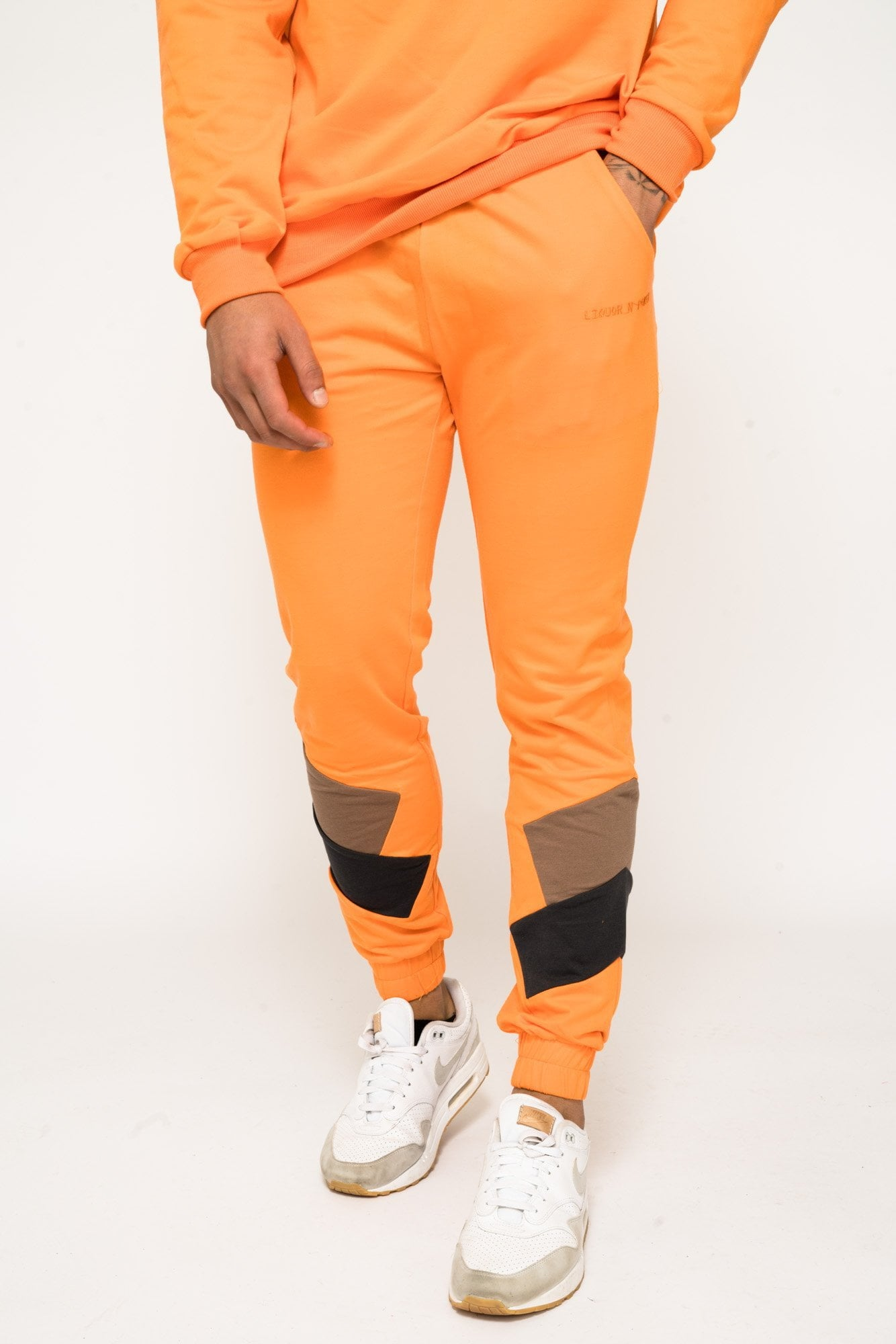 BAKERFIELD BLOCK WORK JOGGER IN SLIM FIT NEON ORANGE - Liquor N Poker  Liquor N Poker