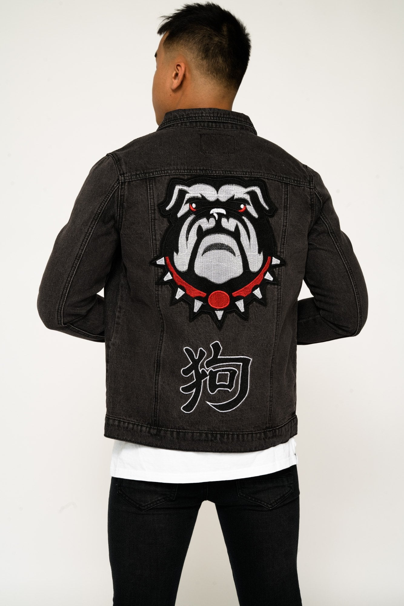 Year Of The Dog Denim Jacket With Embroidery