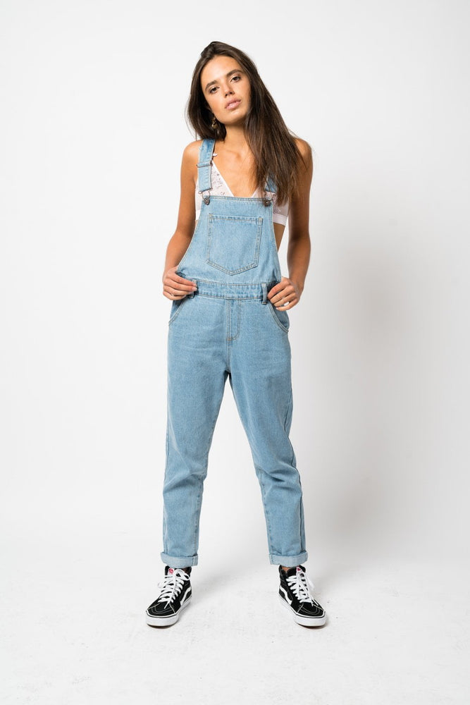 WICHITA 90s Relaxed Dungaree in stonewash
